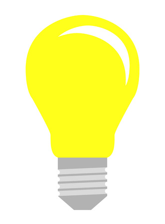 inovation: Isolated lightbulb in flat style for your design