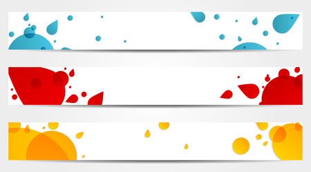 lav: Lav tarzında 3 izole afiş başlıkları Çizim