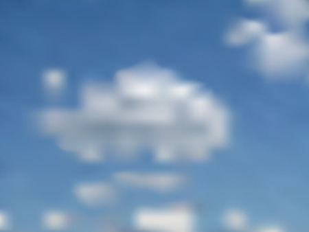 Sky with clouds - gradient mesh background Vector
