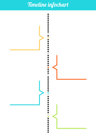 Isolated simple colorful vertical timeline infochart illustration Vector