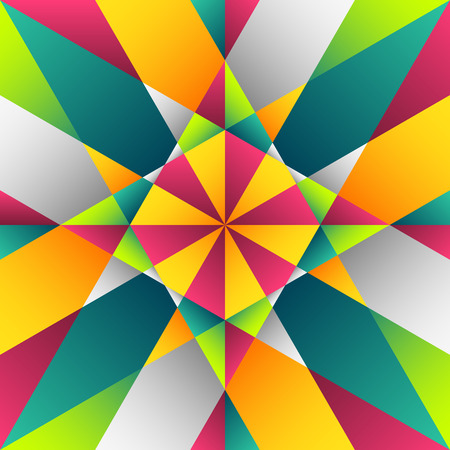 kaleidoscopic: Colorful vitrage seamless pattern in square format
