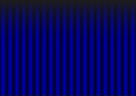 Illustration of blue velvet drapery theater background  Stock Vector - 28878818