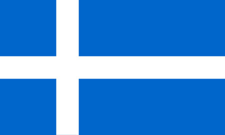 Flag of Shetland -  symbol of the special Shetland identity  3 5, official colors