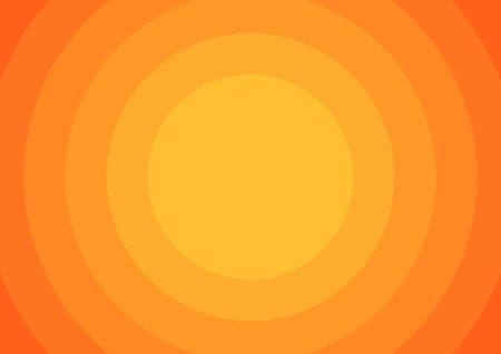 Background with 6 orange circles from light to dark orange Ilustracja
