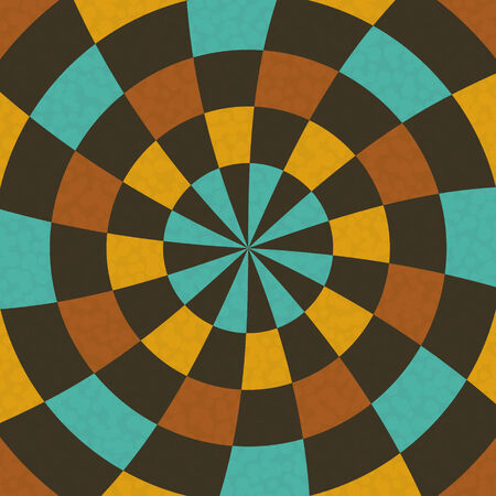 Wallpaper in concentric circular composition in retro colors Vector