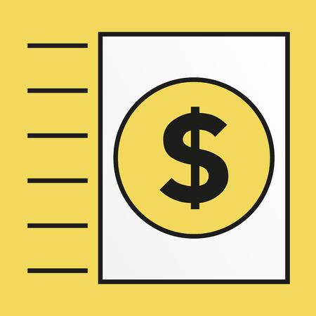 Simple icon for sending money via invoice Vector