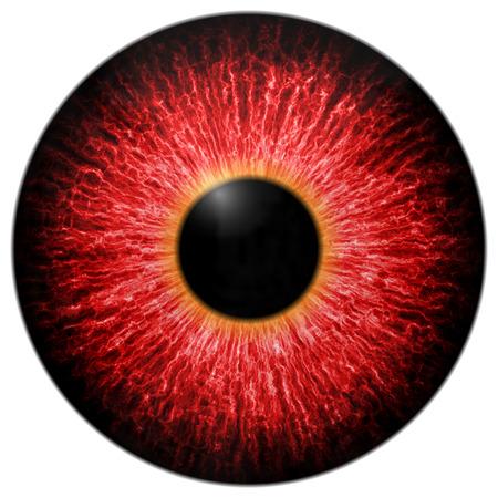 白で隔離赤いの怖い目のイラスト