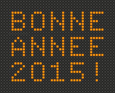 bonne: Happy New Year 2015 card in French - Bonne Annee 2015