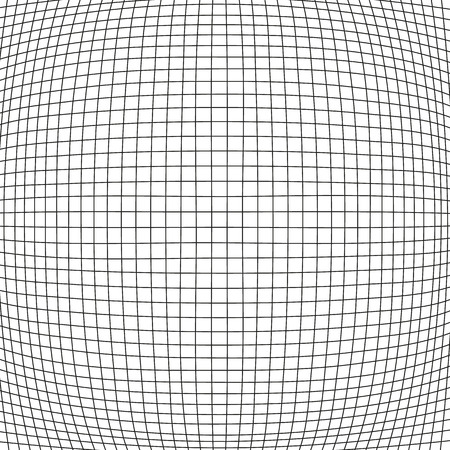 bloat: Simple bulge net with black stripes on white background