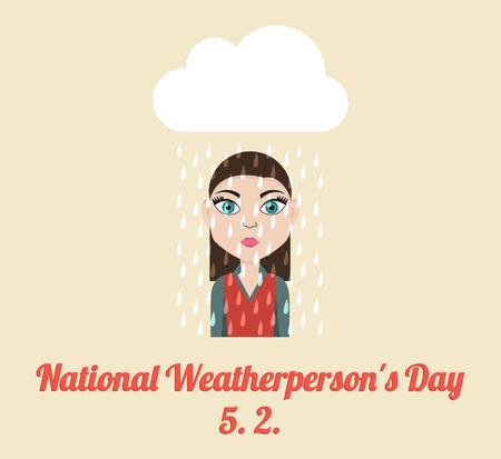National Weatherperson Illustration
