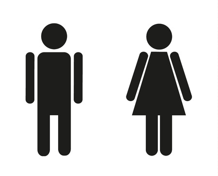 female sex: Two isolated icons for male and female Illustration