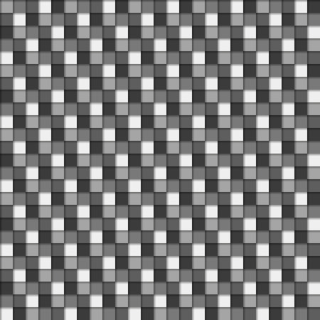greyscale: Seamless 3D pattern in greyscale (monochromatic) colors Illustration
