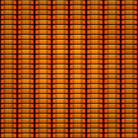 token: Seamless pattern of orange token coin stacks Stock Photo
