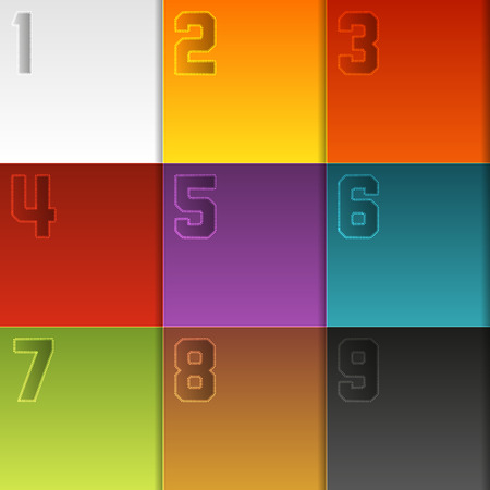 9 colorful boxes (squares) layout for your infographic or any other use Vector