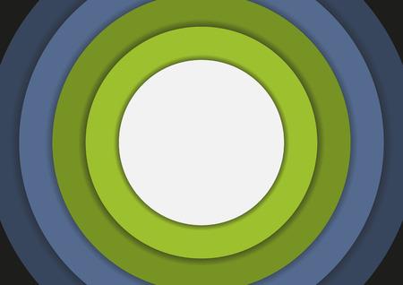 circulos concentricos: 6 círculos concéntricos en frío colores de fondo con copyspace