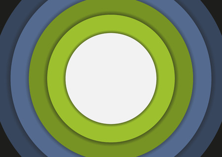 cold colors: 6 concentric circles in cold colors background with copyspace