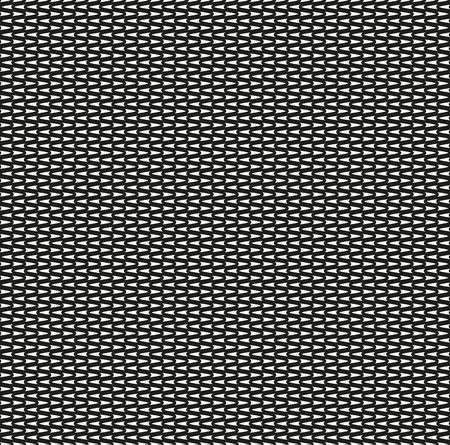 Seamless zig zag black pattern on white background Vector