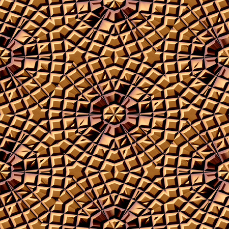 toltec: Seamless texture of brown lightly damaged tiles