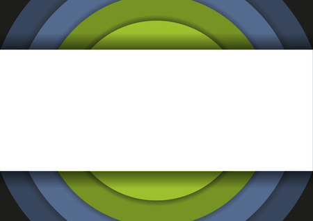 centric: 6 concentric circles in cold colors and large copyspace in front