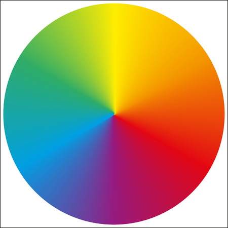 color charts: Isolated classic circular rainbow gradient background for your design Illustration