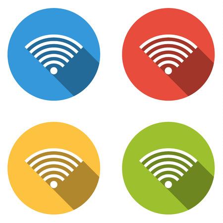 point chaud: Set de 4 boutons color�s plates isol�es pour fil