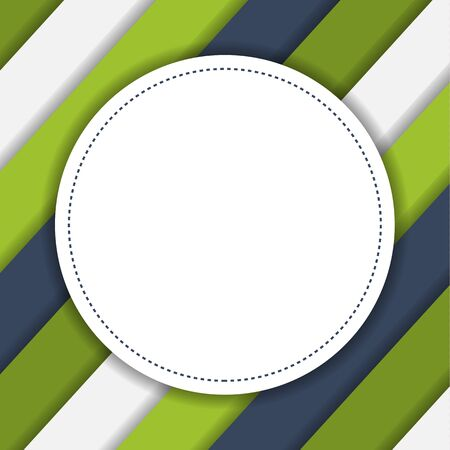 sloping: Colorful geometric striped background with round place with copyspace in modern colors Illustration