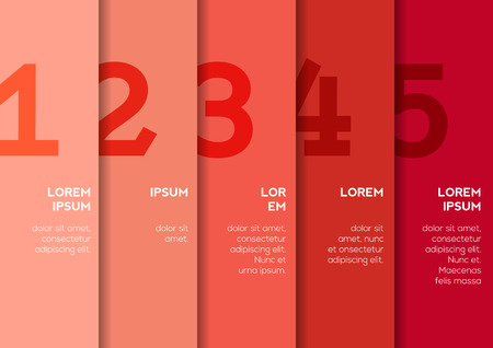 vertical dividers: Background with 5 vertical stripes with numbers and enough copyspace not only for your infographic