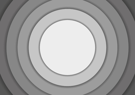 6 concentric circles in shades of grey background with copyspace