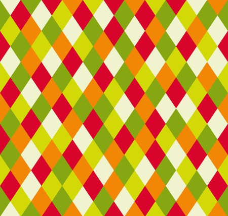 Seamless rhombus pattern in 5 colors of melon from light yellow to dark green
