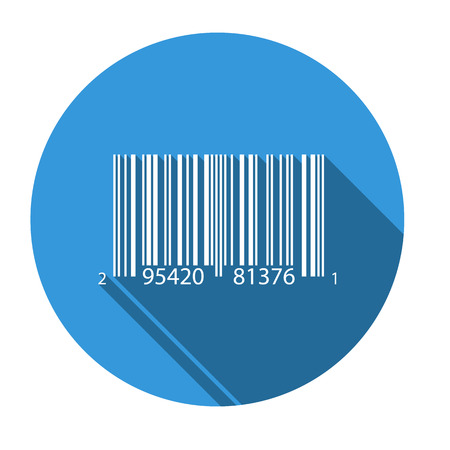numbers icon: Isolated icon for UPCA barcode (numbers are random) Illustration
