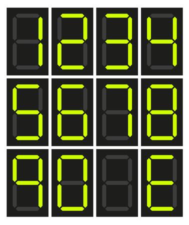 10 絶縁デジタル ネオンのセットの数字番号およびエラーの E  イラスト・ベクター素材