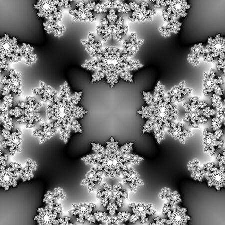 monochromatic: Seamless monochromatic fractal with spider like texture