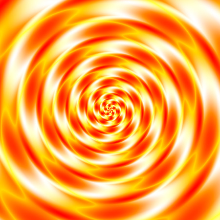 hypnotize: Colorful abstract psycho tunnel - white, red, orange and yellow Stock Photo