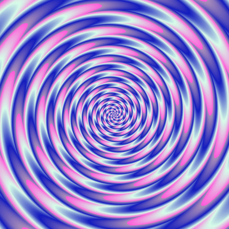 psycho: Colorful abstract psycho tunnel - blue, purple, white, pink Stock Photo