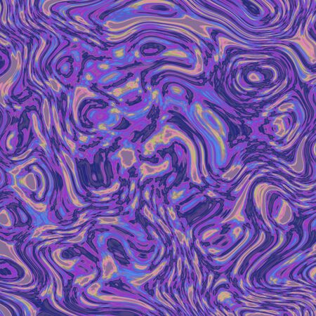 toning: Seamless liquid abstract fractal in post-Impressionism color toning Stock Photo