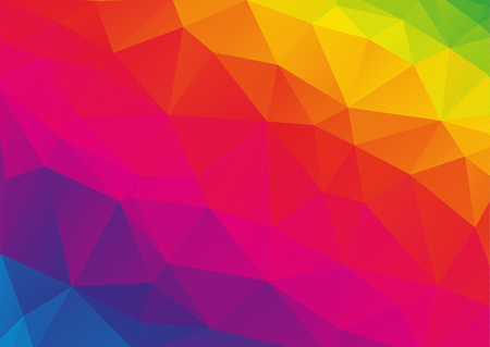 Low polygonal rainbow spectrum abstract geometrical background