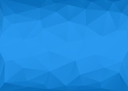 solid background: Low polygonal blue abstract background with big polygons and solid blue Illustration