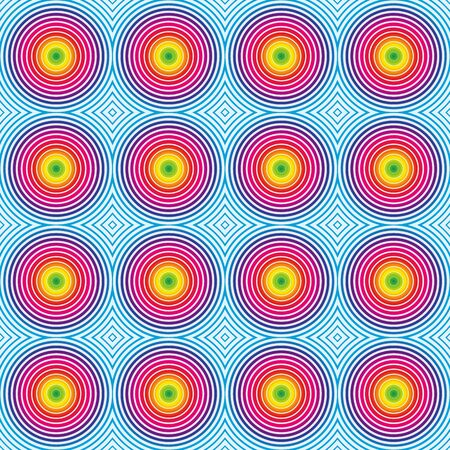 spectrum: Seamless hypnotic optical spectrum rainbow pattern for your graphic