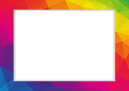 Abstract low polygonal frame in rainbow spectrum colors
