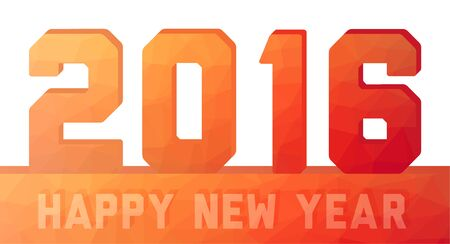 pour feliciter: Happy new year 2016 unusual orange - red card