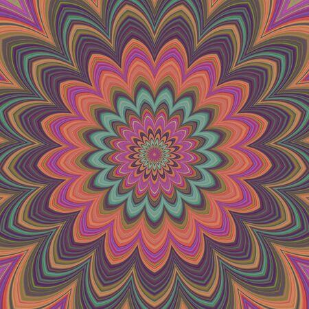 symmetrical: Fullscreen generated symmetrical psychadelic eyecatching flower