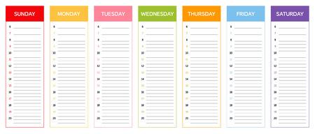 日の色でカレンダー週の計画に従ってタイとクメールの占星術の規則に