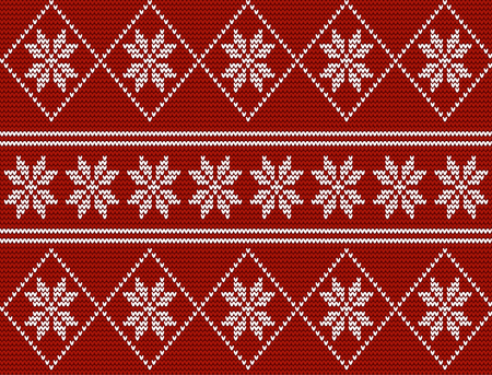 Seamless knitted pattern in nordic norwegian style