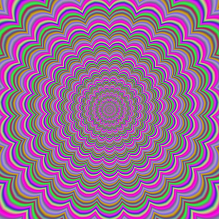illustion: Colorful abstract colorful hypnotic tunnel optical Ilusion