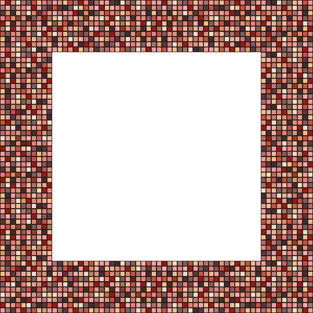 decent: Big mosaic frame in elegant decent colors (1:1 but easily trasformed to any other format) Illustration