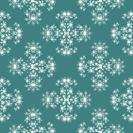 simulating: Seamless fractal pattern simulating frost on window Stock Photo