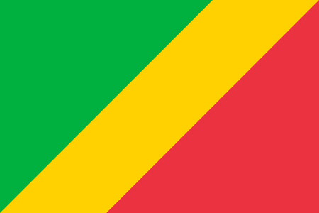 republic of the congo: National flag of Republic of the Congo Republic Congo, West Congo, or Congo-Brazzaville in official colors and Proportions