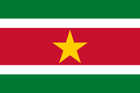 proportional: National flag of Republic of Suriname Suriname in official colors and Proportions