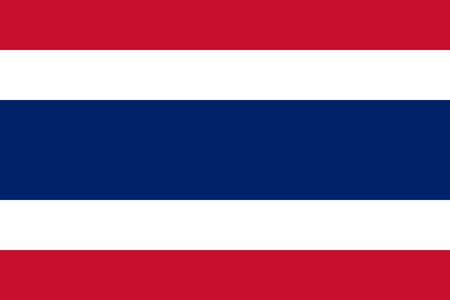 siam: National flag of the Kingdom of Thailand Siam, named Trairanga, in official colors and Proportions