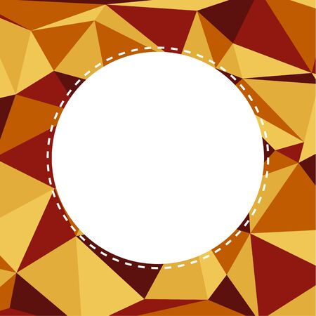 framer: Triangular background in warm muted colors with white circle in center with copyspace for your text